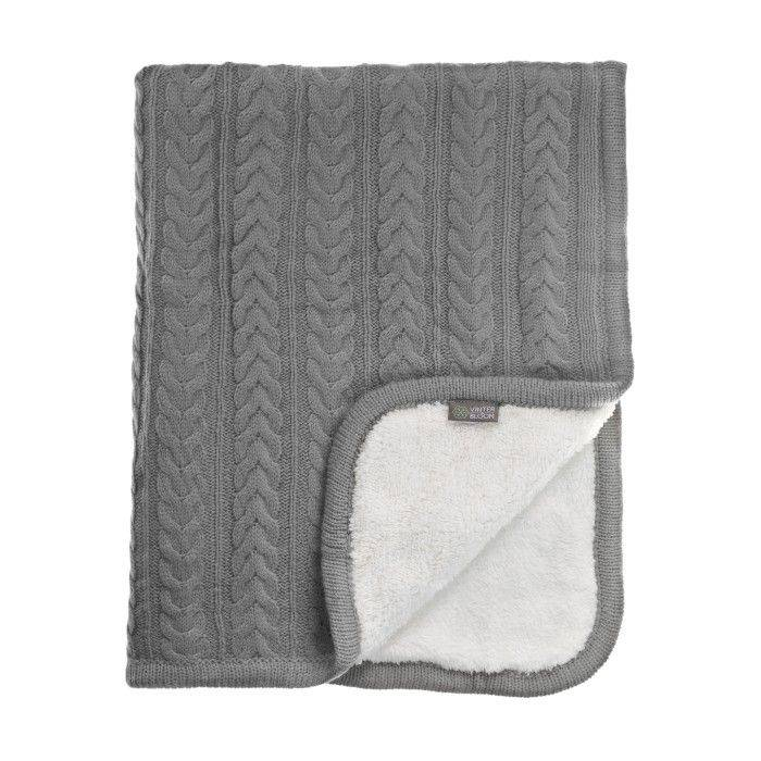 Produktbild på pläden Vinter & Bloom Filt Cuddly Dove Grey