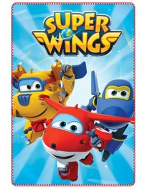 Produktbild på pläden Licensierad Super Wings Fleecepläd